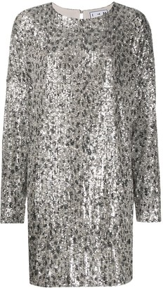 In The Mood For Love Alexandra leopard-sequin dress