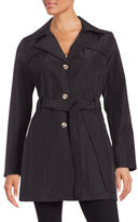 Larry Levine Semi-Fitted Trench Coat
