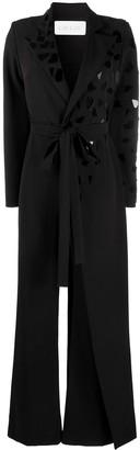 Loulou Tie Suit Jumpsuit