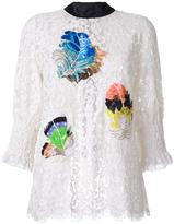 Romance Was Born 'Beaded Plume' lace blouse - women - Cotton/Nylon/Polyester - 8