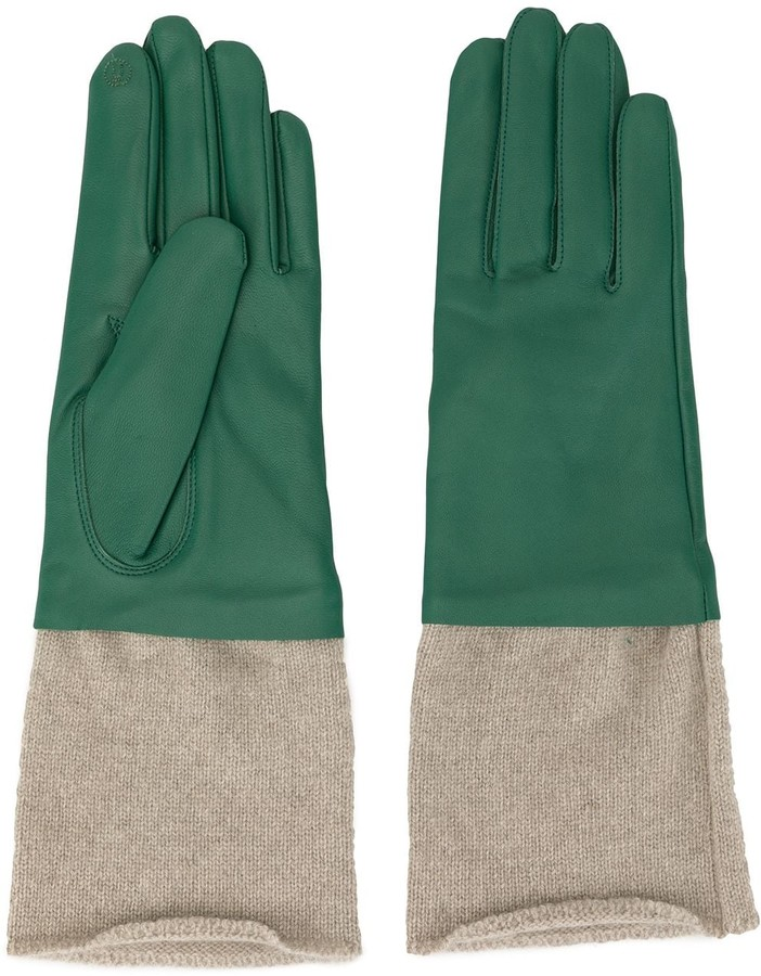 Undercover knitted detail gloves