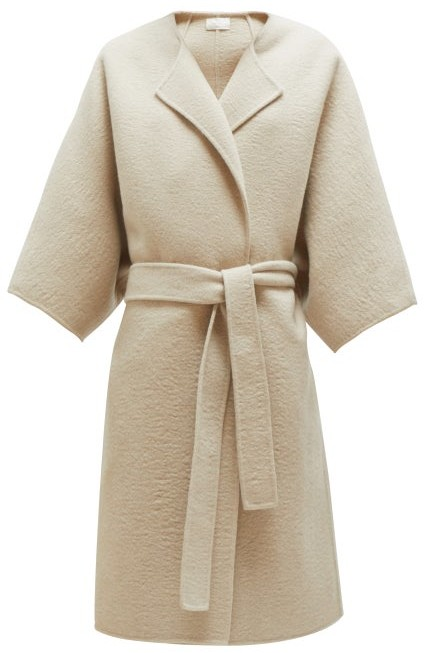 The Row Dreeton Belted Cashmere Coat - Womens - Cream