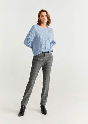 MANGO Openwork knit sweater ecru - XS - Women