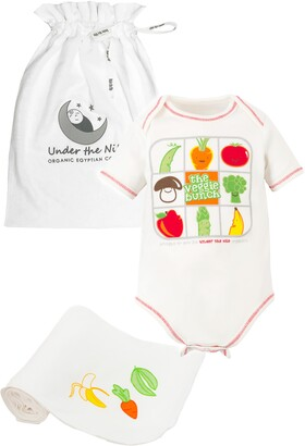 Under the Nile Veggie Bunch Organic Egyptian Cotton Bodysuit & Swaddle Set