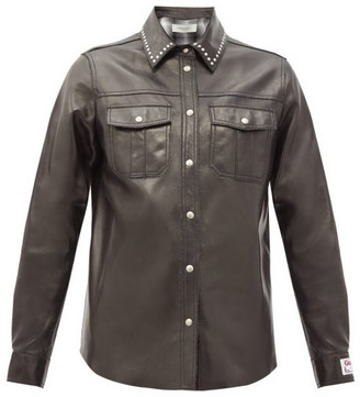 Golden Goose Aleida Studded Leather Shirt - Black
