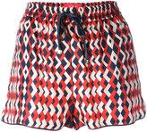 F.R.S For Restless Sleepers - geometric print shorts - women - Silk - L