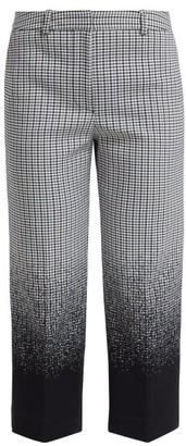 Erdem Preston Cropped Cotton-blend Trousers - Black Multi