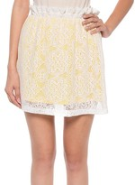Coveted Clothing Women's Casual Skirts YELLOW - Yellow Lace Miniskirt - Women
