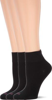 Hue Women's Cotton Body Sock 3 Pair Pack