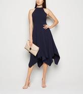 New Look Mela High Neck Hanky Hem Dress