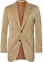 P. Johnson - Beige Cotton, Wool And Silk-blend Solaro Suit Jacket - Beige