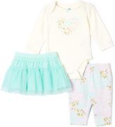 Vitamins Baby Cream & Blue Leopard Tutu Set - Infant