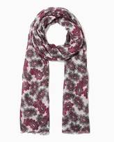 Charming charlie Frayed Paisley Scarf