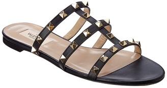 Valentino Rockstud Leather Sandal