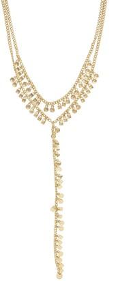 Ettika 18K Gold Plated Geo Fringe Lariat Necklace