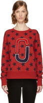Marc Jacobs Red 90s Star Sweatshirt