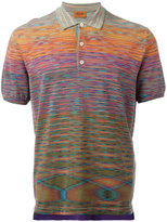Missoni blurry pattern polo shirt - men - Cotton - 50
