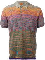 Missoni blurry pattern polo shirt - men - Cotton - 52
