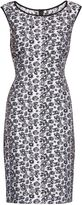 Gina Bacconi Black white jacquard unlined dress