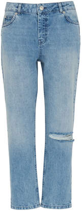 Whistles Distressed Straight Jean