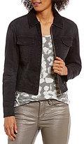 Calvin Klein Jeans Faux Fur Collar Trucker Solid Jean Jacket