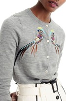 J.Crew Women's Embroidered Pheasant Jackie Cardigan