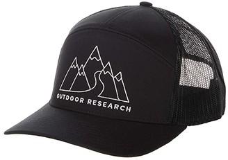 Outdoor Research Mt Doodle 7 Panel Trucker Cap (Black) Caps