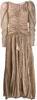 Etro paisley print pleated maxi dress