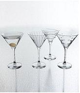 Mikasa Cheers Striped, Swirled & Dotted Martini Glasses, Set of 4