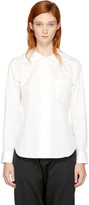 Comme des Garcons White Oversized Rounded Collar Shirt