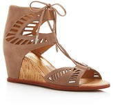 Dolce Vita Linsey Lace Up Cork Wedge Sandals