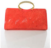 Gianni Versace Red Textured Tote Handbag