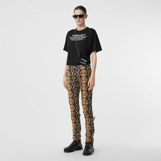 Burberry Skinny Fit Python Print Jeans