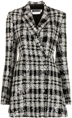 Rotate by Birger Christensen Check-Pattern Blazer Dress