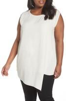 Eileen Fisher Plus Size Women's Asymmetrical Silk Tunic