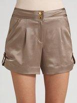 Raimer Cuffed Satin Shorts