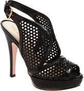 PRADA Perforated Platform Sandal - Black