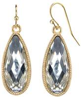 1928 Nickel Free Faceted Stone Teardrop Earrings