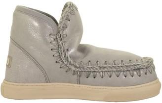 Mou Mini Eskimo Sneaker Microglitter Silver Boot