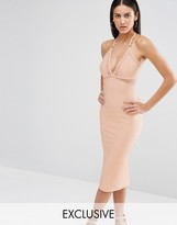 Missguided Exclusive Mesh Insert Bodycon Dress