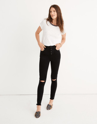 "Madewell Tall 10"" High-Rise Roadtripper Jeggings: Button-Front Edition"