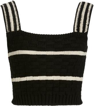 Rachel Comey Fennel Striped Pima Cotton Top