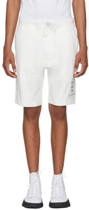Y-3 White Logo Graphic Shorts