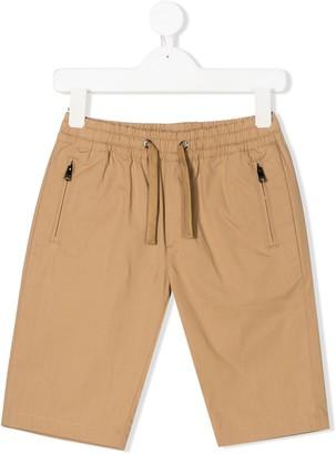 Dolce & Gabbana Kids DG logo drawstring shorts