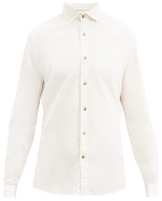 Brunello Cucinelli Spread Collar Cotton Shirt - Cream