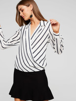 Portmans Cassandra Collared Wrap Top