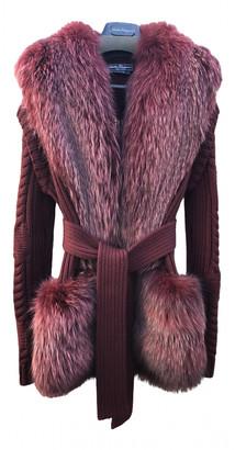 Salvatore Ferragamo Burgundy Fox Coats