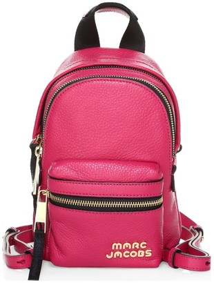 Marc Jacobs Micro Logo Leather Backpack
