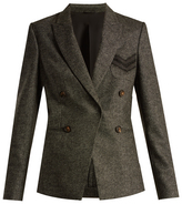 Brunello Cucinelli Peak-lapel wool and cashmere-blend blazer