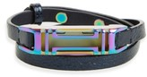 Tory Burch Women's For Fitbit Leather Wrap Bracelet